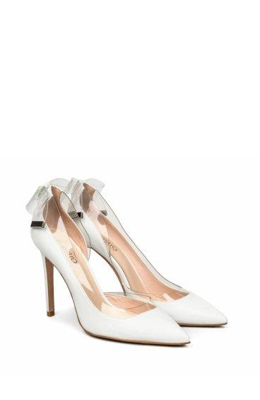 Туфли на шпильке estro белые er00105224