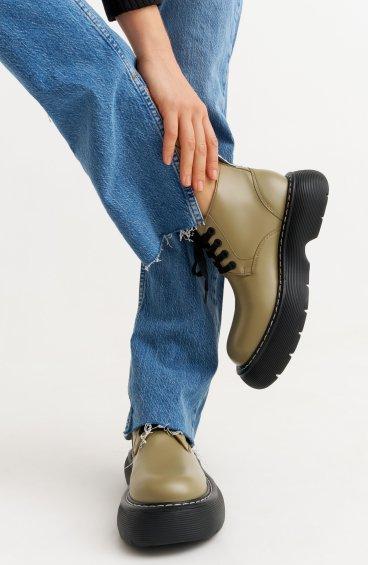 Ботинки оливковые Estro ER00110187