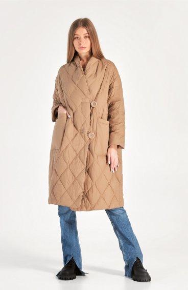 Стьобане пухове пальто Estro ER00110147