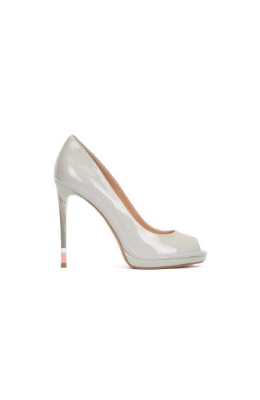 Туфли лаковые Estro серые ER00102193