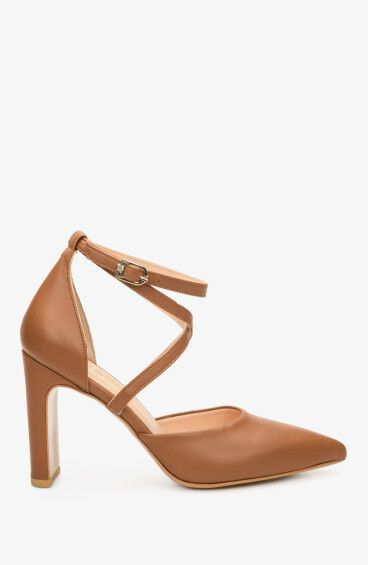 Босоножки женские на каблуке Estro коричневые ER00107173
