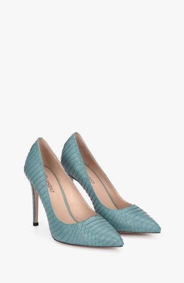 Туфлі-човники бірюзові Estro ER00107975