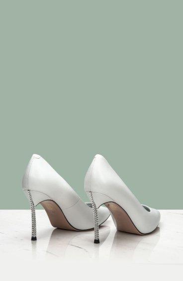 Туфли лодочки Estro белые ER00106815