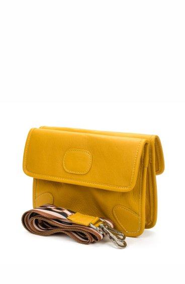 Сумка конверт кожаная Estro желтая ER00107719