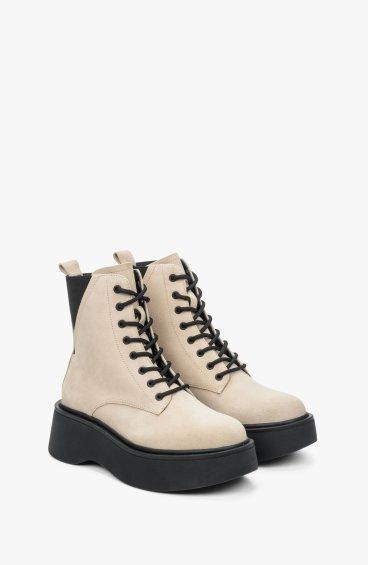 Ботинки бежевые Estro ER00109418