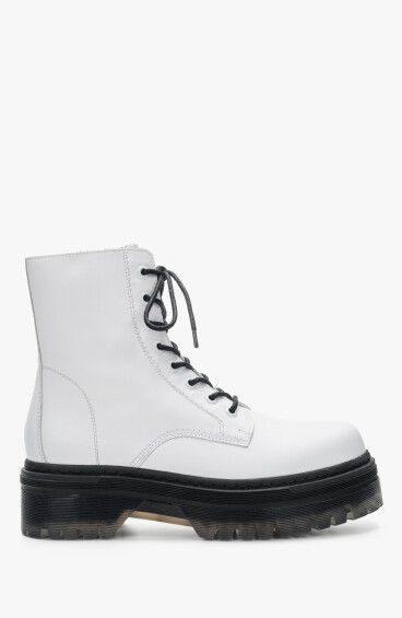 Ботинки белые Estro ER00110217