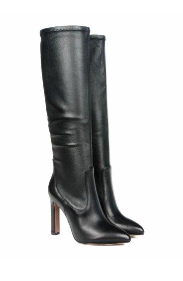 Стрейч-сапоги кожаные estro ER00105443