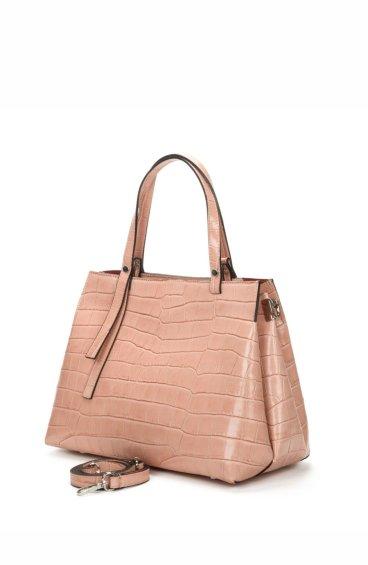 Сумка шоппер кожаная Estro розовая ER00107449