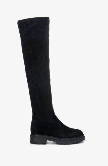 Стрейч-ботфорты черные Estro ER00108357